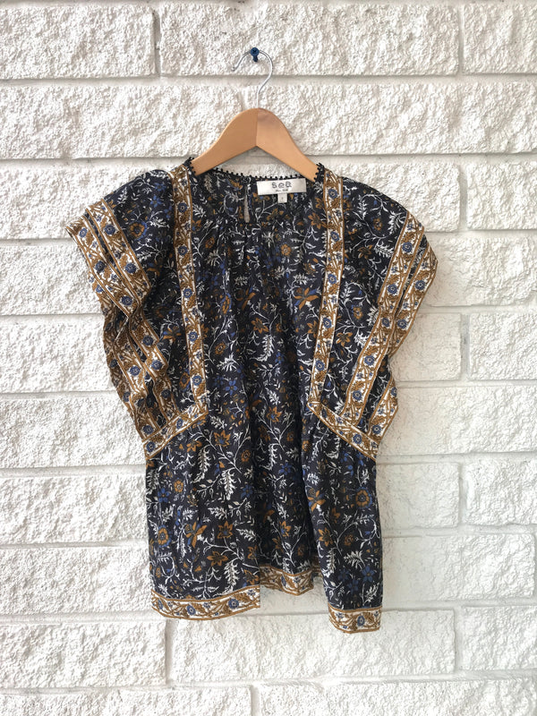 WALKER PRINT FLUTTER SLV TOP