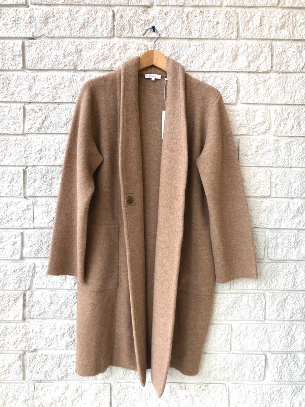 COLLARLESS CARDIGAN COAT