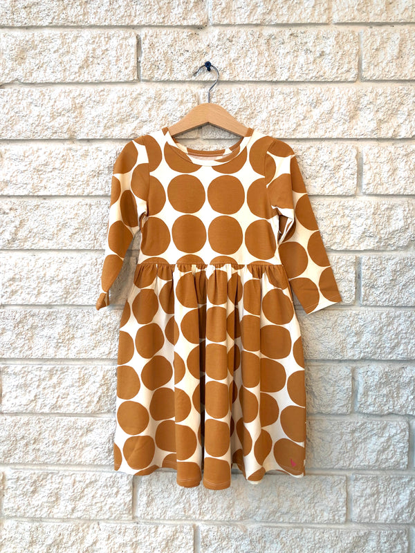 ORGANIC STEPH DRESS GOLD DOTS
