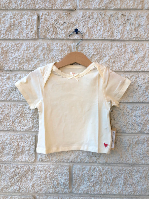 ORGANIC BABY TEE IN ANTIQUE WHITE