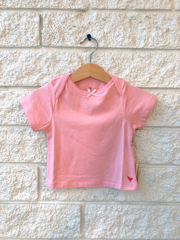 ORGANIC BABY TEE IN MELLOW ROSE