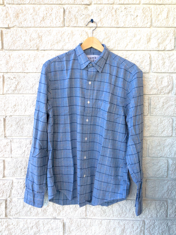DON WOVEN BUTTON UP MULTI PLAID FLANNEL