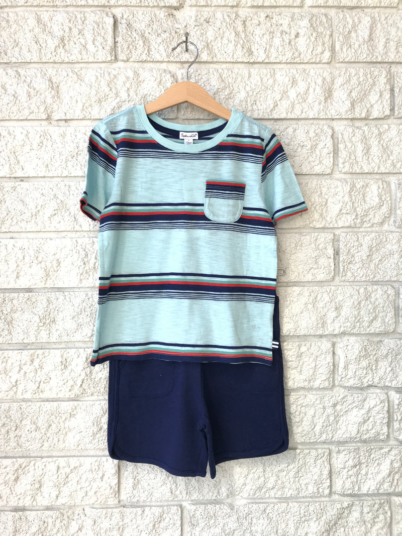 BRIGHT STRIPE TEE SET