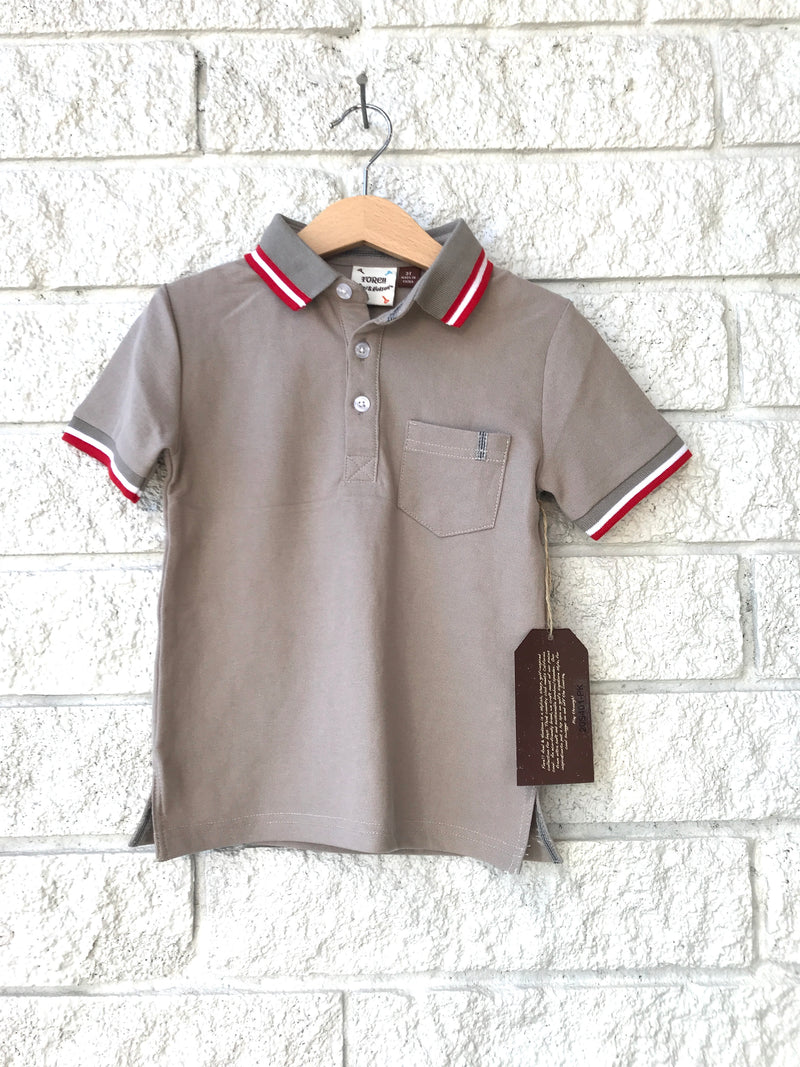CLAY PIQIE POLO GREY