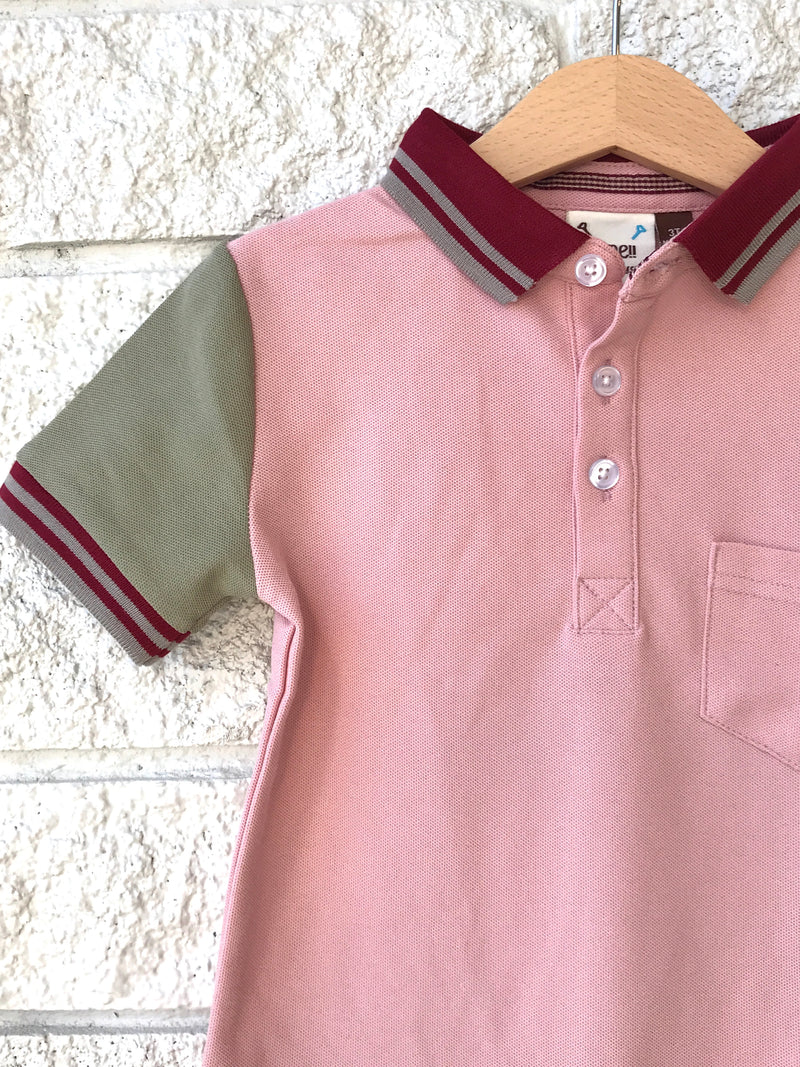 CONTRAST SLEEVE POLO SHIRT