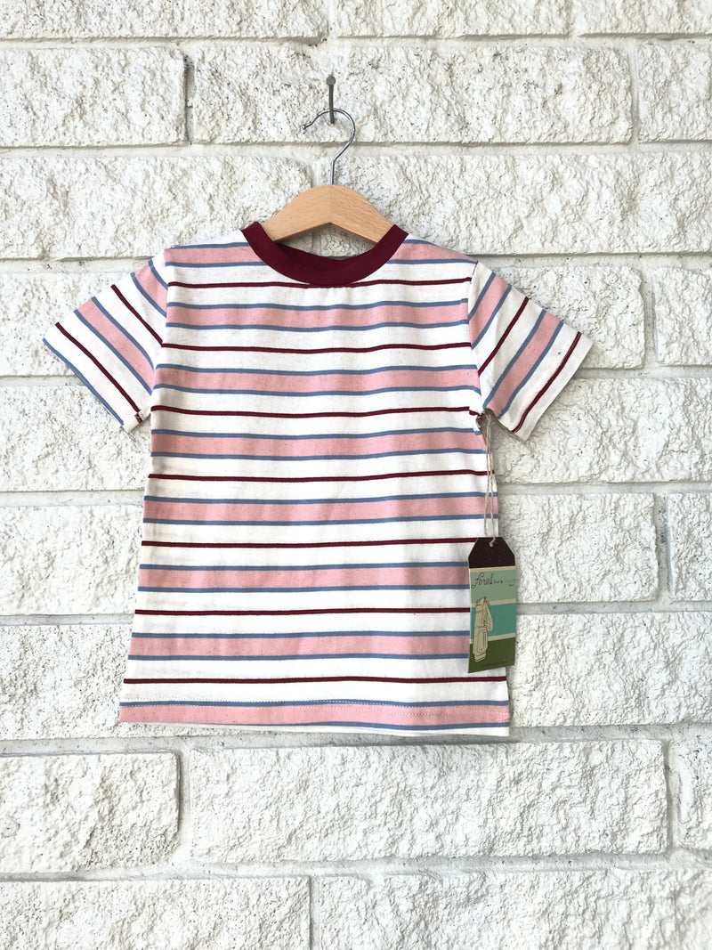 BURGUNDY STRIPED TSHIRT