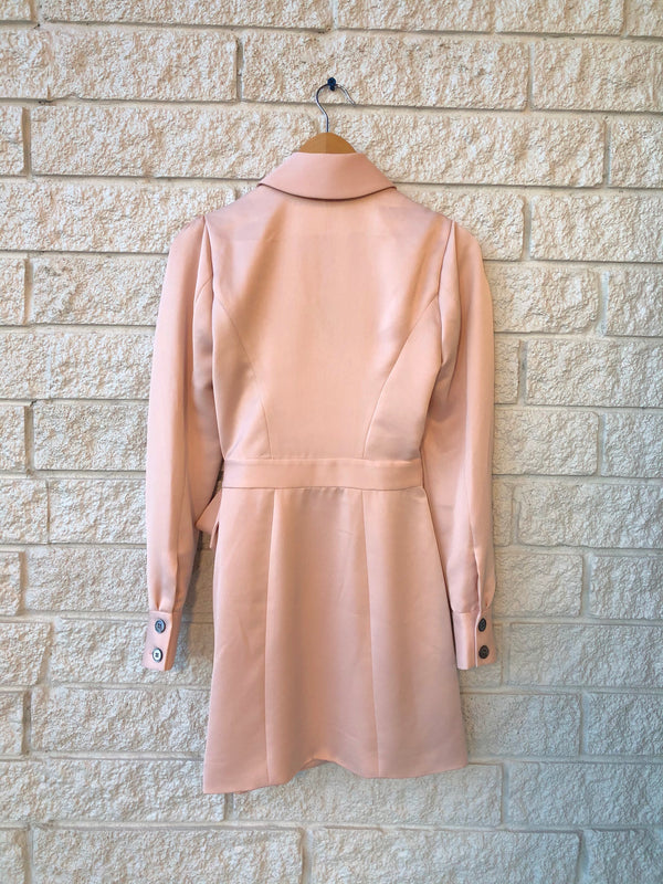 Asher Satin Crepe Blazer Dress