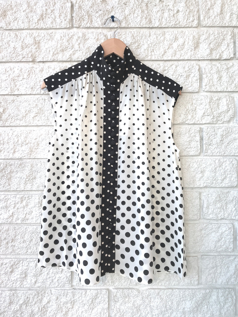 SILK HIGH NECK BLOUSE