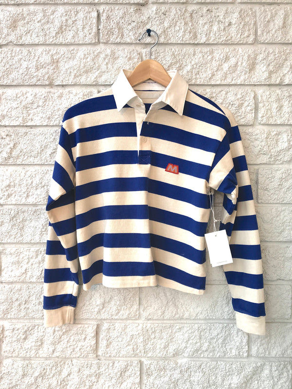 THE LONGSLEEVE BOXY POLO CROP TEE