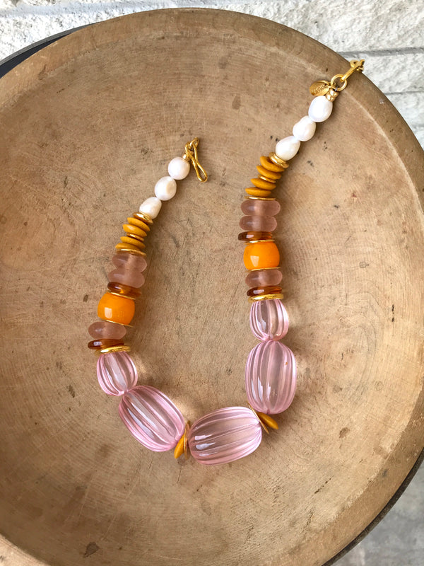 VILLA NECKLACE IN ROSE
