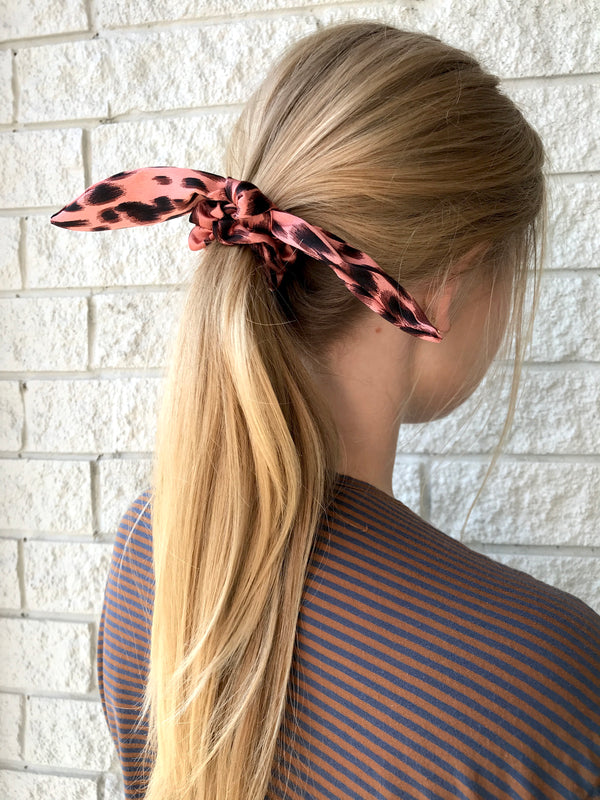 SET OF TWO RABBIT EAR SCRUNCHIE