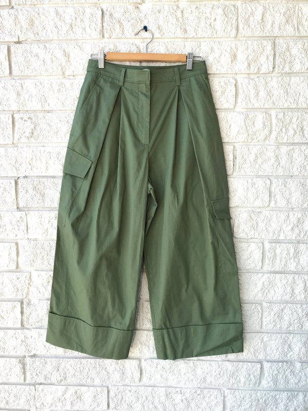 TWILL PLEATED CARGO PANT