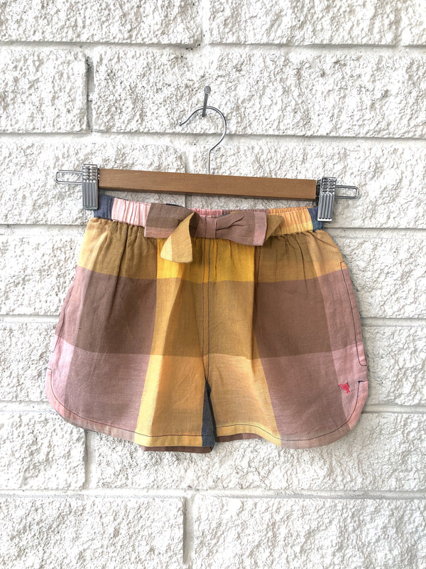 CAMP BOW SHORT IN GINGHAM