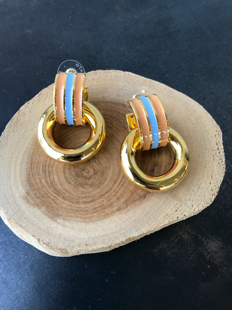 PIAZZA EARRINGS IN MARINE