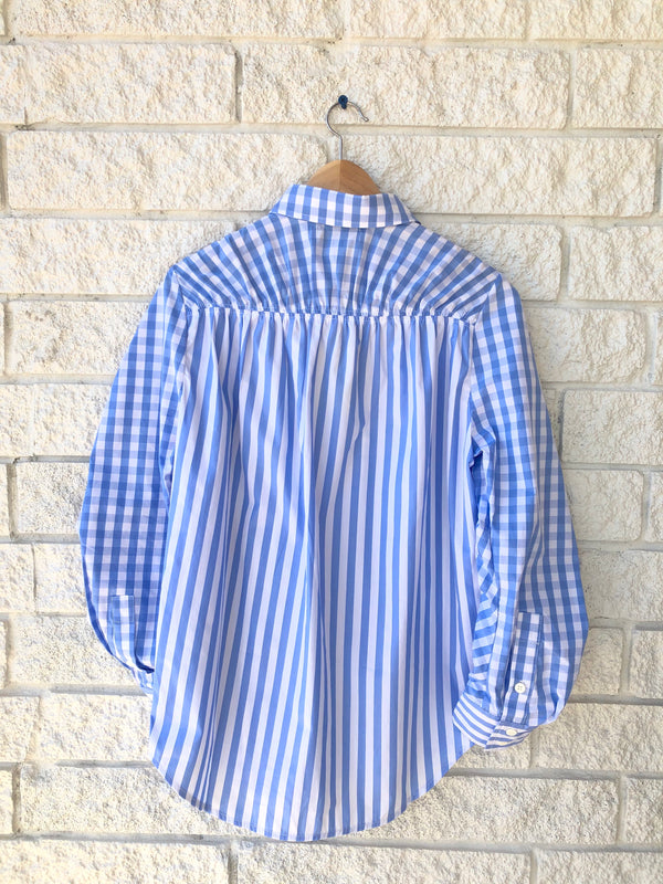 STEVIE GATHERED STRIPED SHIRT
