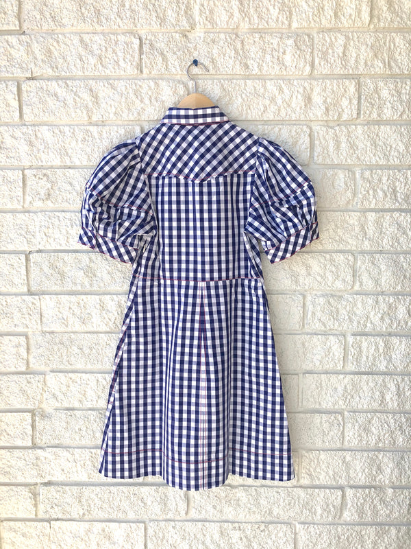 BESSIE CHECK MINI DRESS