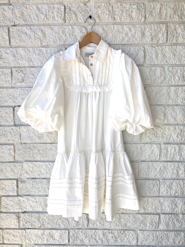 JOHANNES SMOCK MINI DRESS