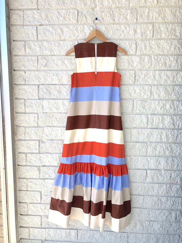 LINA STRIPED MAXI DRESS