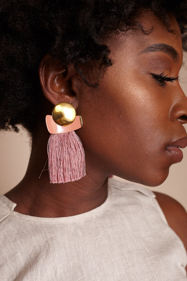 MULBERRY FRINGE EARRINGS