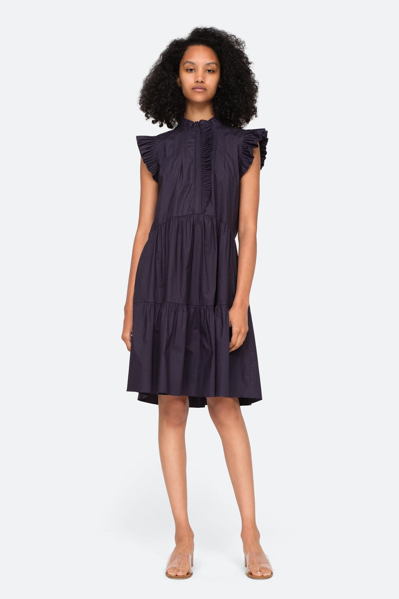 KARLA FLUTTER SLEEVE DRESS