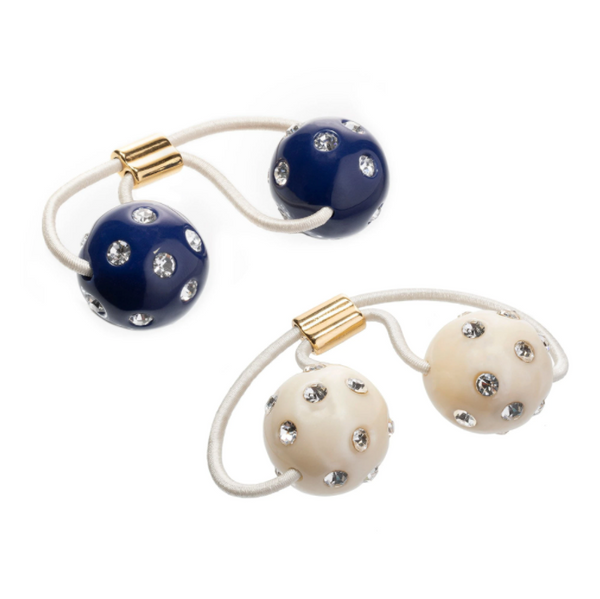 CRYSTAL POLKA DOT GUMBALL PAIR