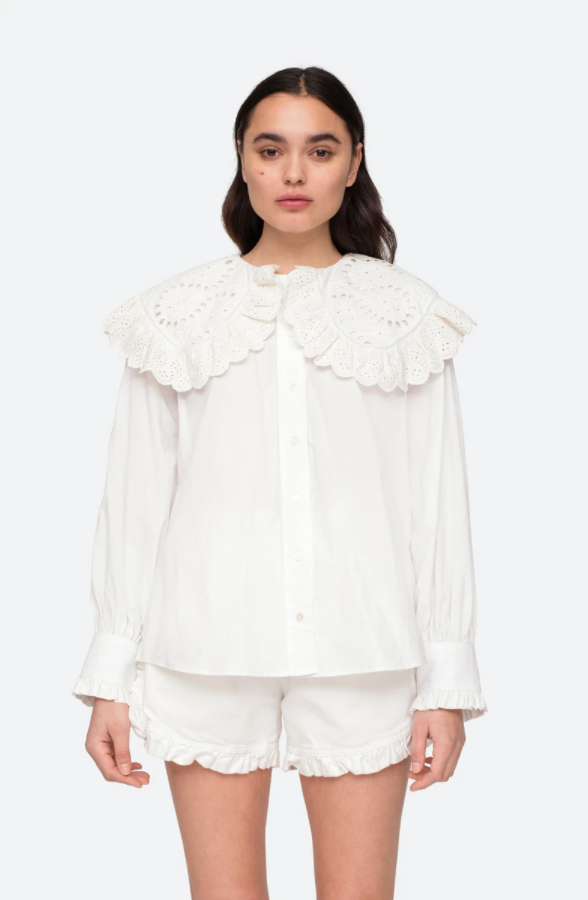MARINA LACE COLLAR SHIRT