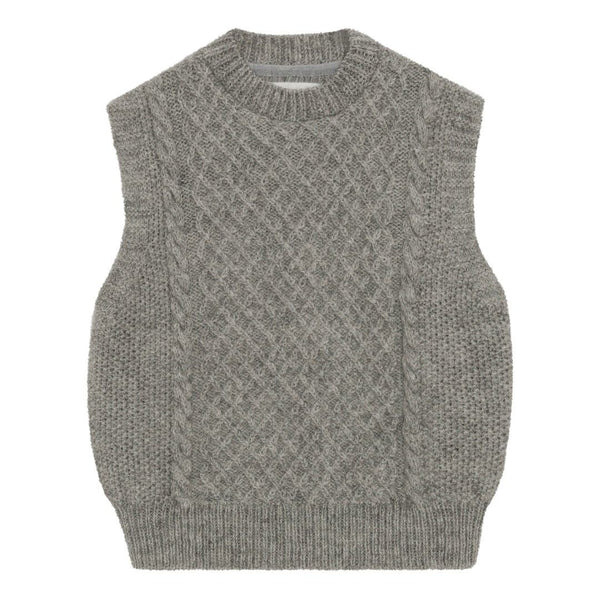 Skall Studio Oda Vest Knit Light Grey