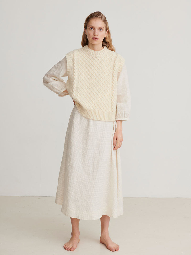 Skall Studio Oda Vest Knit Off-White