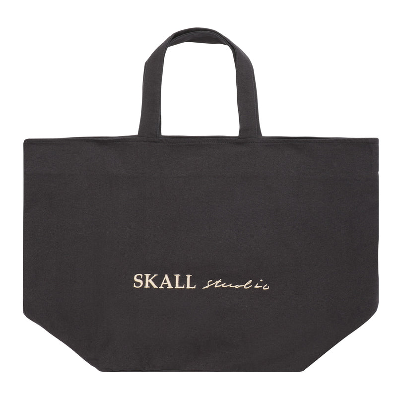 Skall Studio Wally bag Bag Black with beige embroidered.