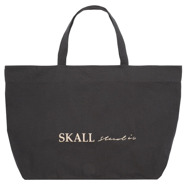 Skall Studio Wally big bag Bag Black with beige embroidered.