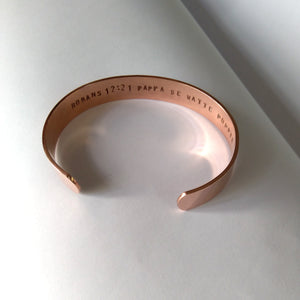 Personalised Copper Cuff