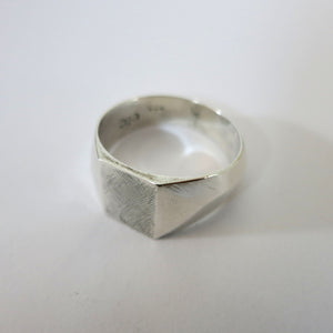 Rough Silver Signet