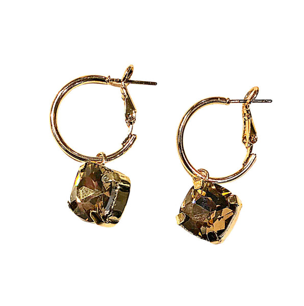 Tiny glam earring Bronze