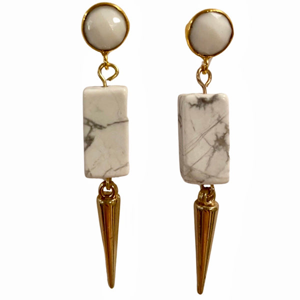Blanco Fierce earrings