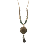 Ansley green agate necklace