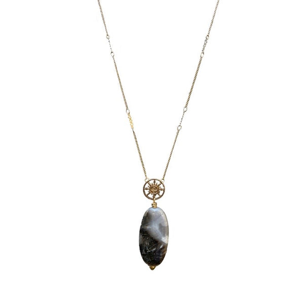 Mellie agate necklace