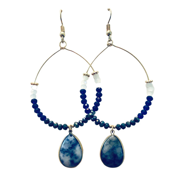 Fanfair earrings blue