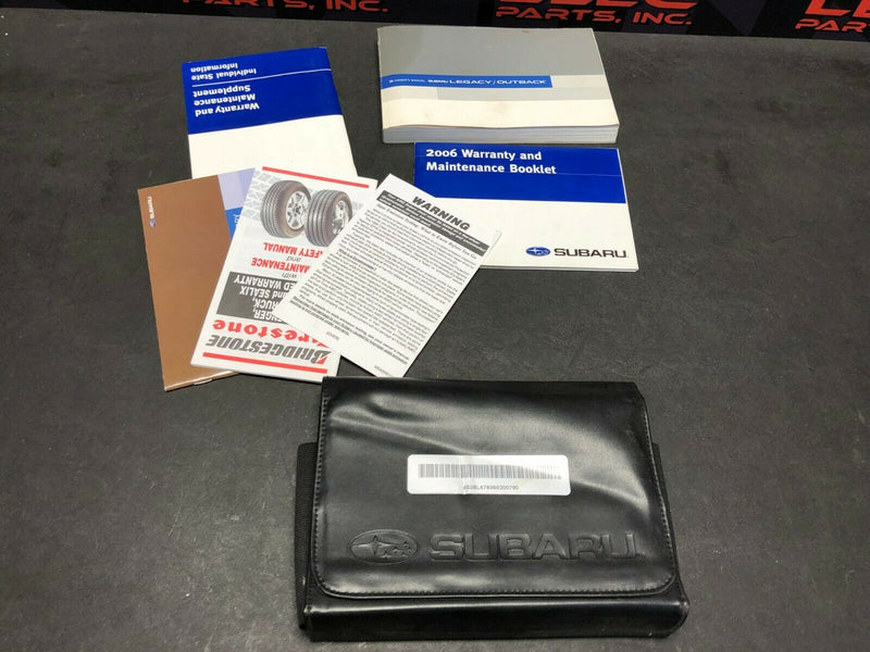 2006 SUBARU LEGACY GT OWNERS MANUAL BROCHURE GUIDE DEALER INFO CASE