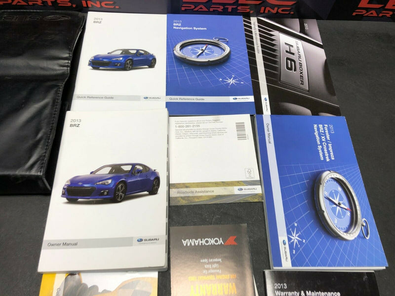 2013 SUBARU BRZ OWNERS MANUAL BROCHURE GUIDE DEALER INFO
