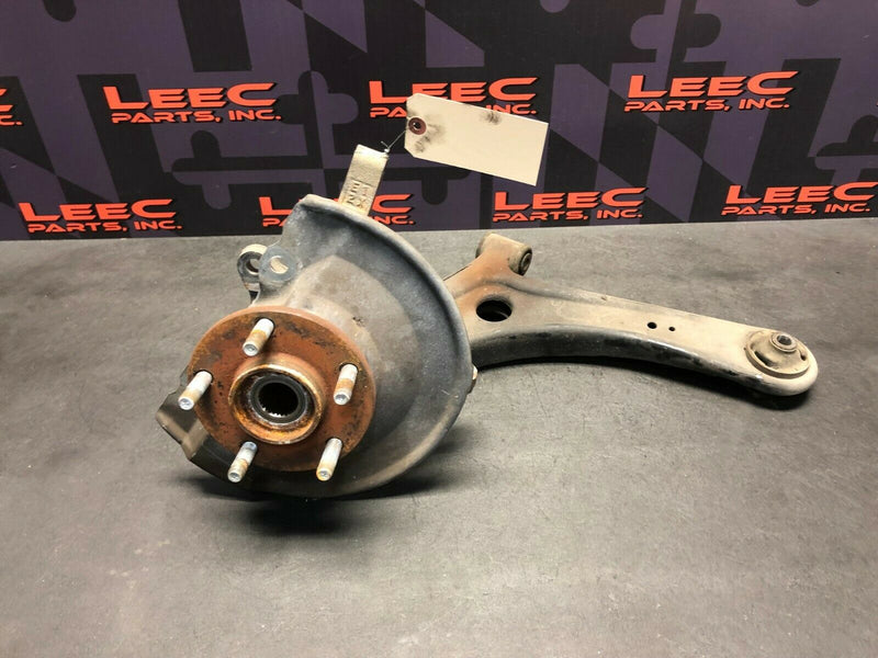2011 MITSUBISHI LANCER RALLIART OEM FRONT DRIVER LOWER CONTROL ARM HUB KNEE ASSY