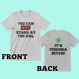 Bartender Corona Bitch Tee-Kween Tees-Front And Back-Small-Grey-Kween Tees