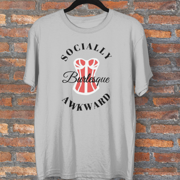 Socially Awkward Burlesque Merch Tee-tee-Kween Tees-Kween Tees