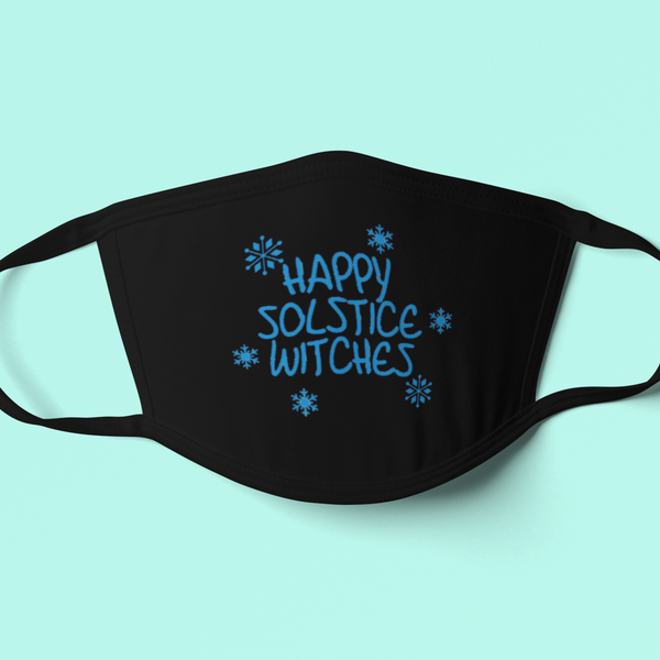 Happy Solstice Witches Holiday Mask-mask-Kween Tees-Kween Tees