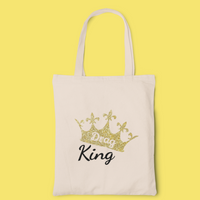 Drag King Crown tote-tote-Kween Tees 100% cotton tote with vinyl decoration