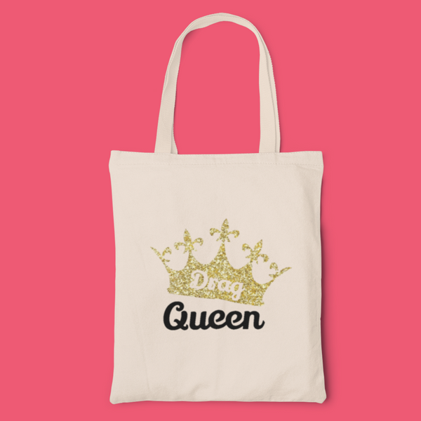 Drag Queen Crown tote-tote-Kween Tees 100% cotton tote with vinyl decoration