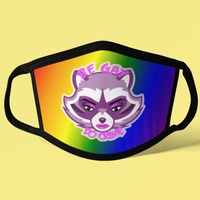 Be Gay Do Crime Sublimated Mask-mask-Kween Tees-Kween Tees