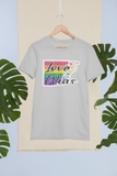 Love Wins Full Glitter Tee-tee-Kween Tees-Grey-Small-Kween Tees