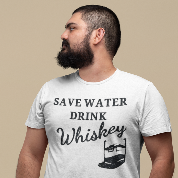 Save Water Drink Whiskey Tee-shirt-Kween Tees