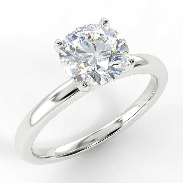 Eco 11 Round Brilliant Cut Solitaire Diamond Ring