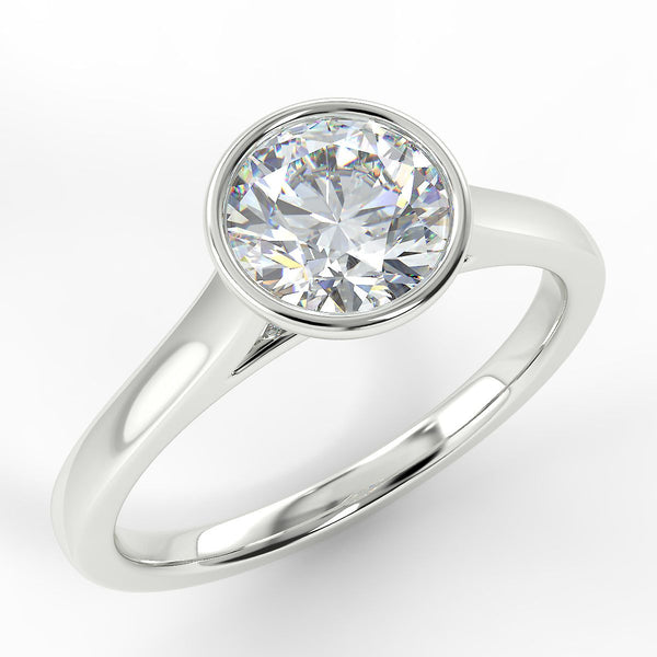 Eco 12 Round Brilliant cut Bezel Solitaire Diamond Ring